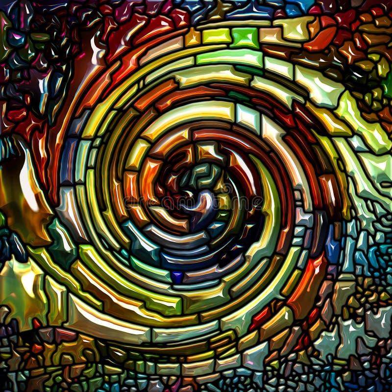 Πρόοδος του σπειροειδούς χρώματος απεικόνιση αποθεμάτων