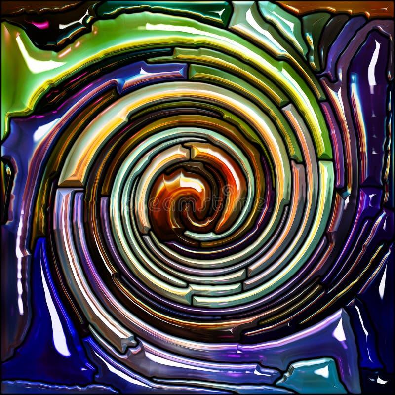 Πρόοδος του σπειροειδούς χρώματος διανυσματική απεικόνιση