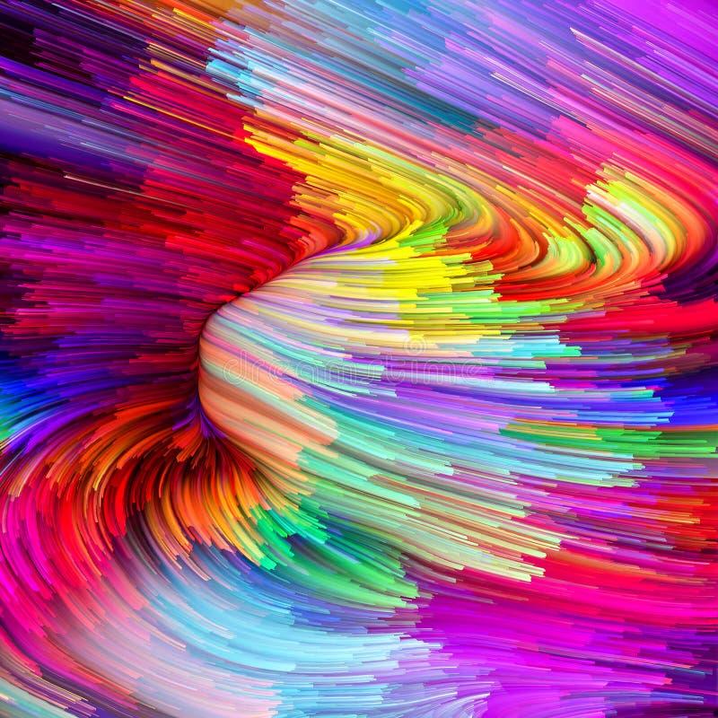Πρόοδος του υγρού χρώματος στοκ εικόνες