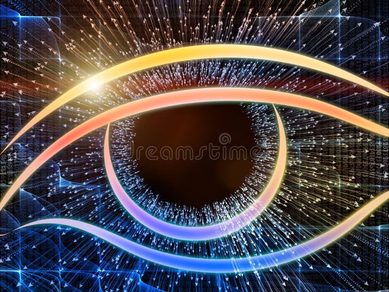 Πρόοδος των οπτικών πληροφοριών διανυσματική απεικόνιση