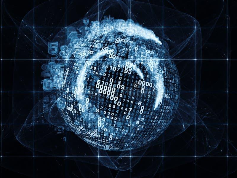 Πρόοδος των ψηφιακών πληροφοριών απεικόνιση αποθεμάτων
