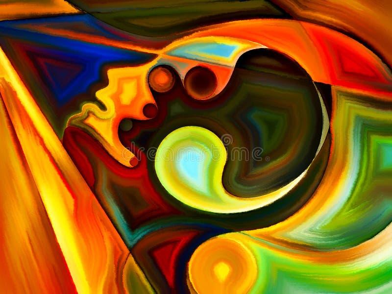Πρόοδος των ιερών χρωμάτων διανυσματική απεικόνιση