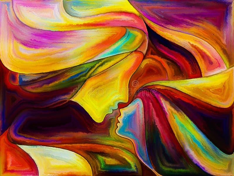 Πρόοδος των ιερών χρωμάτων απεικόνιση αποθεμάτων