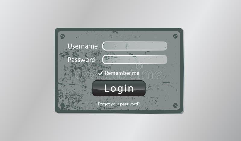 Πρόσβαση άδειας εισόδου διανυσματική απεικόνιση