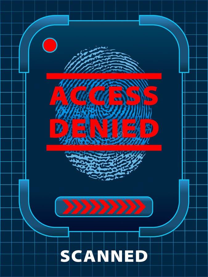 πρόσβαση που αμφισβητείται διανυσματική απεικόνιση