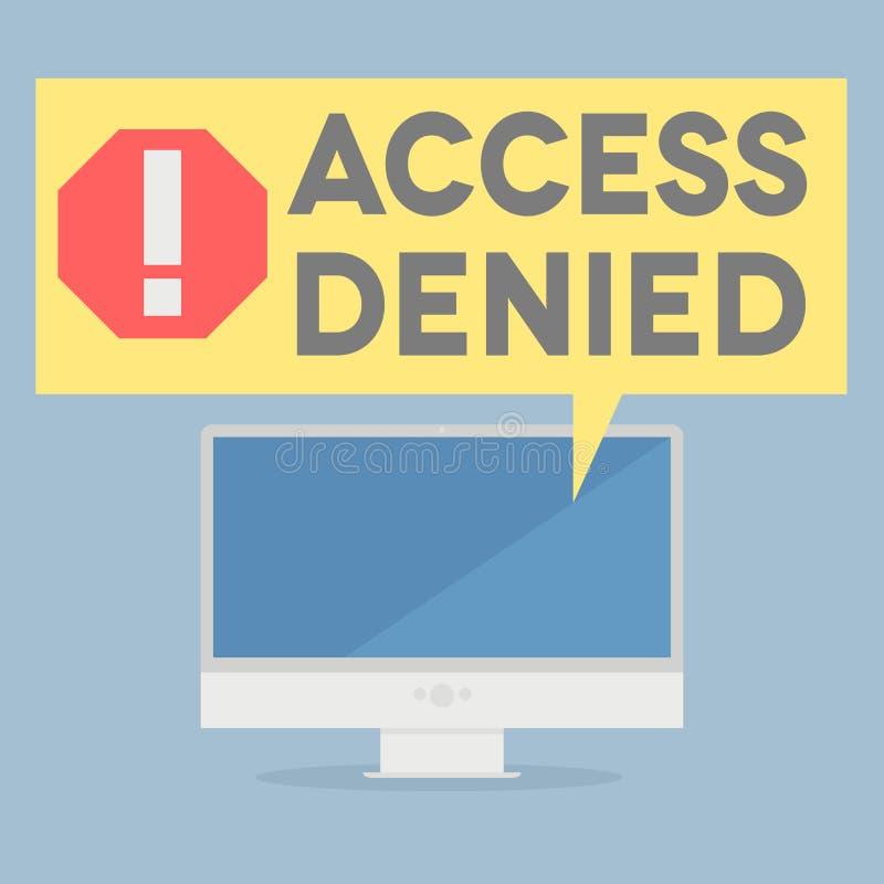 πρόσβαση που αμφισβητείται απεικόνιση αποθεμάτων