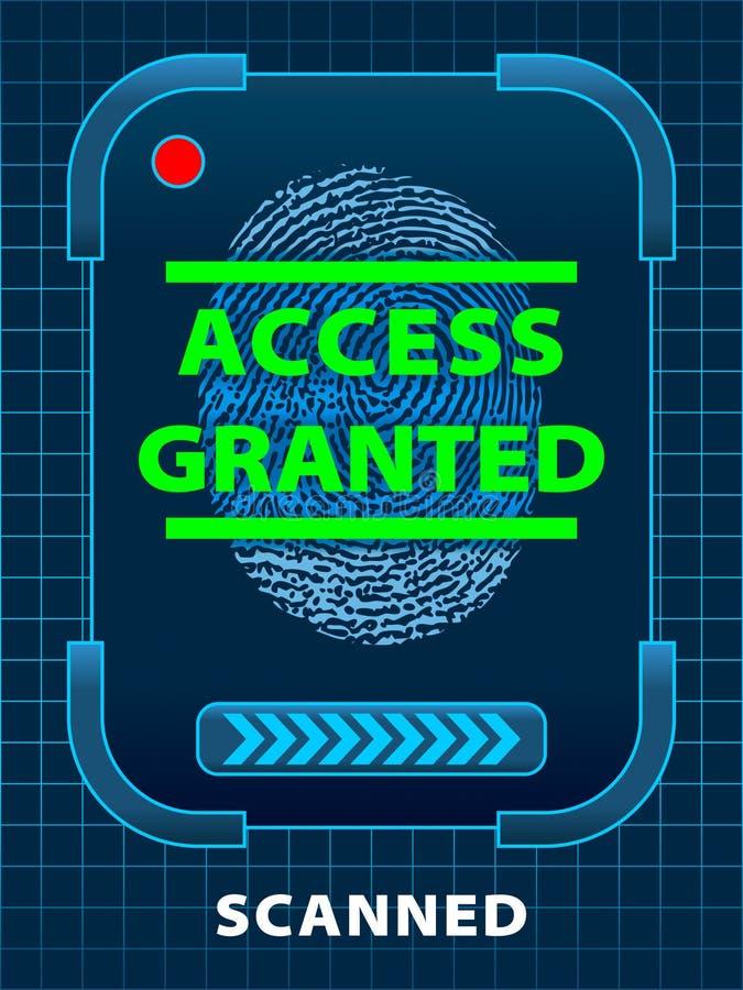 πρόσβαση που χορηγείται απεικόνιση αποθεμάτων