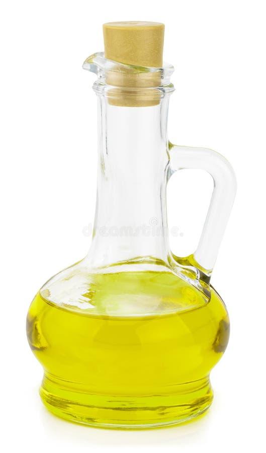 Πρόσθετο μπουκάλι ελαιολάδου που απομονώνεται σε ένα άσπρο υπόβαθρο στοκ φωτογραφία με δικαίωμα ελεύθερης χρήσης