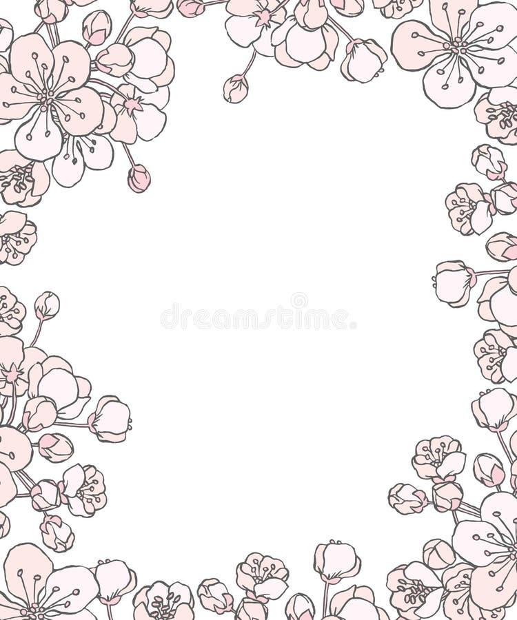 πρόσθετο editable eps floral συμπεριλαμβανόμενο πλαίσιο διάνυσμα μορφής ελεύθερη απεικόνιση δικαιώματος