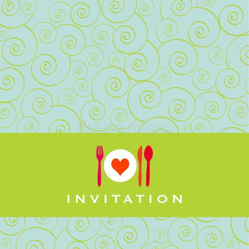 πρόσκληση γευμάτων απεικόνιση αποθεμάτων