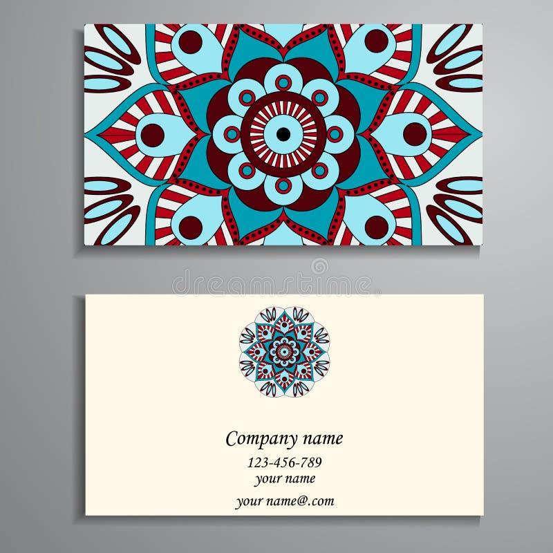 Πρόσκληση, επαγγελματική κάρτα ή έμβλημα με το πρότυπο κειμένων Στρογγυλό ΛΦ απεικόνιση αποθεμάτων