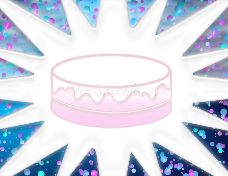 πρόσκληση κέικ γενεθλίων διανυσματική απεικόνιση