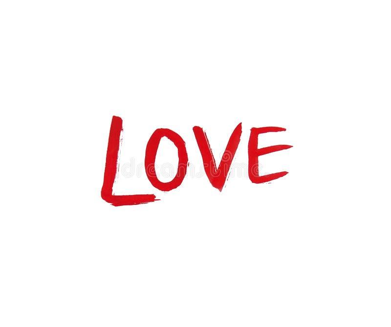 Πρόσκληση συγχαρητηρίων καρτών απεικόνισης αγάπης επιγραφής watercolor βαλεντίνων ελεύθερη απεικόνιση δικαιώματος
