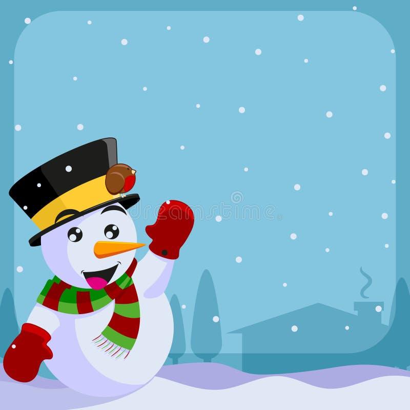 πρόσκληση Χριστουγέννων διανυσματική απεικόνιση