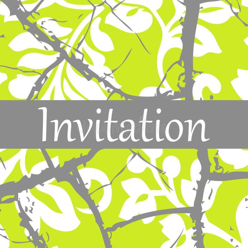 πρόσκληση διανυσματική απεικόνιση