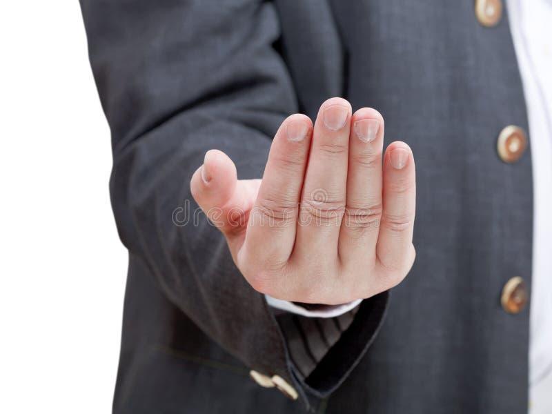 Πρόσκληση επιχειρηματιών - χειρονομία χεριών στοκ φωτογραφία