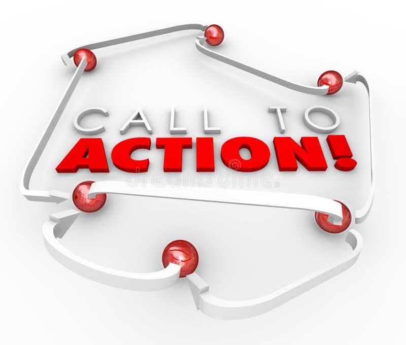 Πρόσκληση στις συνδεδεμένες δίκτυο σφαίρες συστημάτων δράσης που εμπορεύονται Advertis απεικόνιση αποθεμάτων