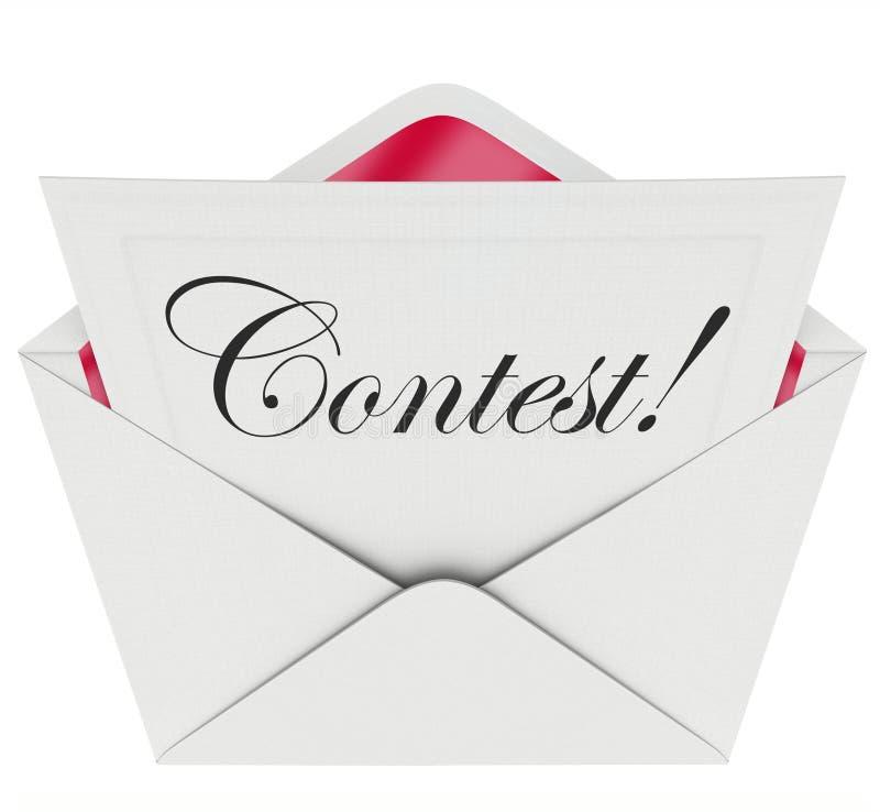 Πρόσκληση φακέλων επιστολών αίτησης συμμετοχής του Word διαγωνισμού για να παίξει ελεύθερη απεικόνιση δικαιώματος