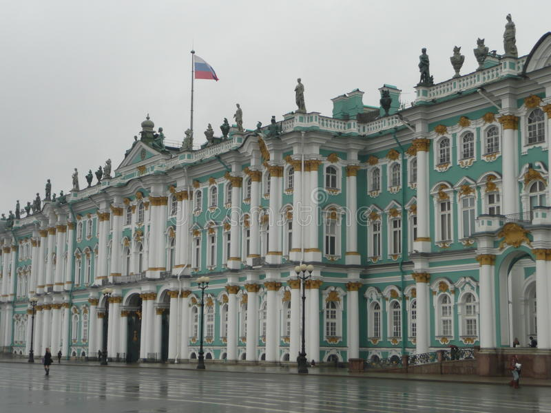 Πρόσοψη μουσείων ερημητηρίων στη Ρωσία στοκ εικόνα με δικαίωμα ελεύθερης χρήσης