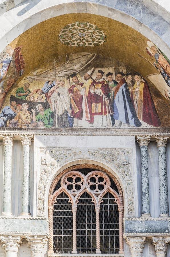 Πρόσοψη της βασιλικής του SAN Marco στοκ εικόνες με δικαίωμα ελεύθερης χρήσης