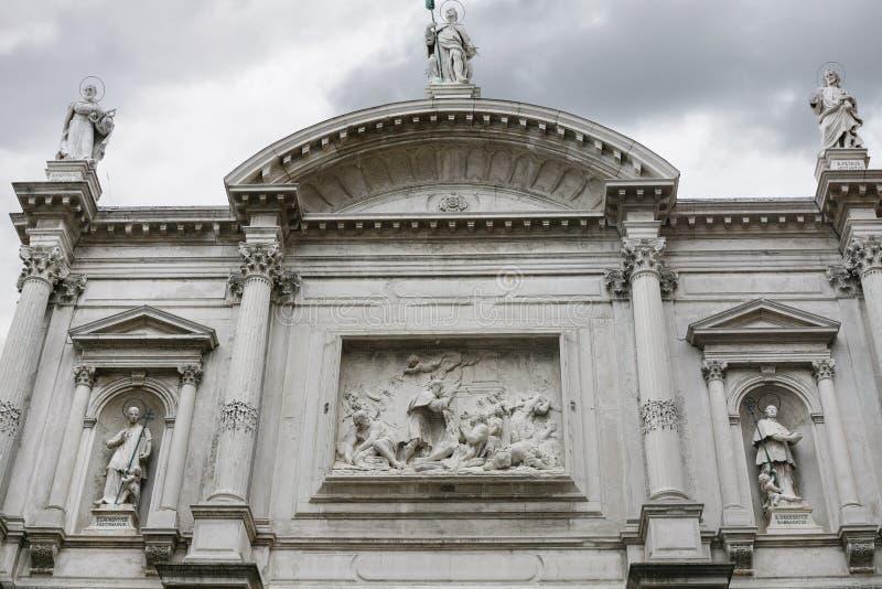 Πρόσοψη της εκκλησίας Αγίου Roch στη Βενετία στοκ φωτογραφία με δικαίωμα ελεύθερης χρήσης