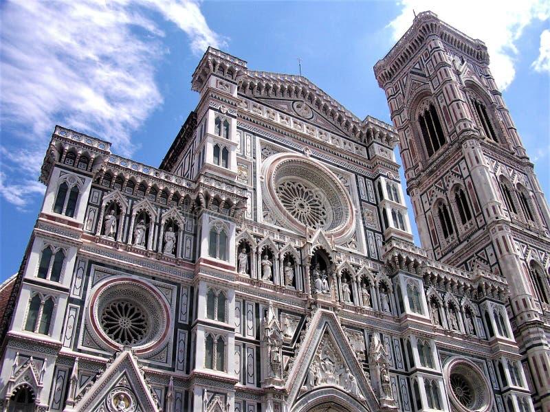Πρόσοψη του καθεδρικού ναού Σάντα Μαρία del Fiore της Φλωρεντίας στοκ φωτογραφία με δικαίωμα ελεύθερης χρήσης