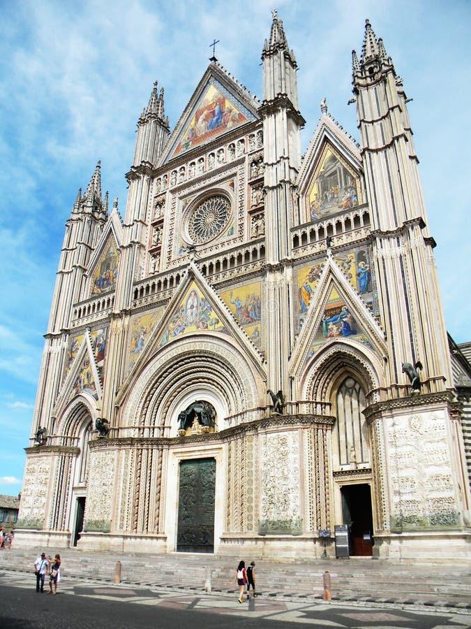 Πρόσοψη του καθεδρικού ναού Orvieto, Orvieto, Ιταλία στοκ φωτογραφία με δικαίωμα ελεύθερης χρήσης