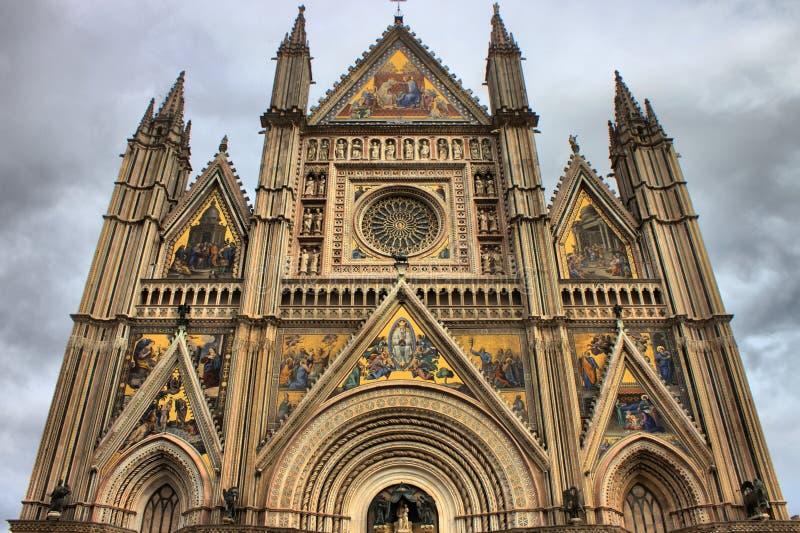 Πρόσοψη του καθεδρικού ναού Orvieto στοκ φωτογραφίες με δικαίωμα ελεύθερης χρήσης