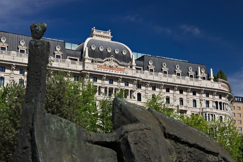 Πρόσοψη του ξενοδοχείου Gallia στο Μιλάνο, πρόσφατα εντελώς renovat στοκ φωτογραφία με δικαίωμα ελεύθερης χρήσης