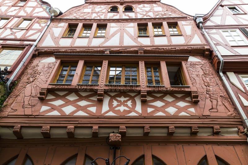 Πρόσοψη του παλαιού πλαισιώνοντας σπιτιού ξυλείας  Γερμανία στοκ φωτογραφία με δικαίωμα ελεύθερης χρήσης