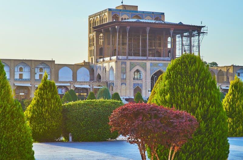 Πρόσοψη του παλατιού Qapu, Ισφαχάν, Ιράν στοκ φωτογραφία