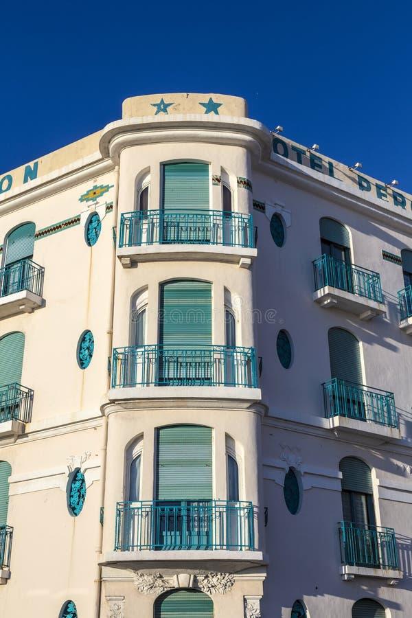 Πρόσοψη του παλαιού ξενοδοχείου Peron στη Μασσαλία, στοκ φωτογραφία
