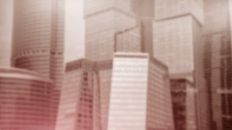 Πρόσοψη του σύγχρονου κτιρίου γραφείων Έννοια της σύγχρονης αρχιτεκτονικής r διανυσματική απεικόνιση