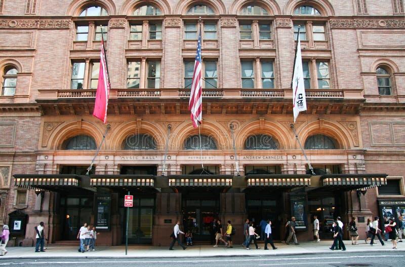 Πρόσοψη του Carnegie Hall στοκ εικόνες