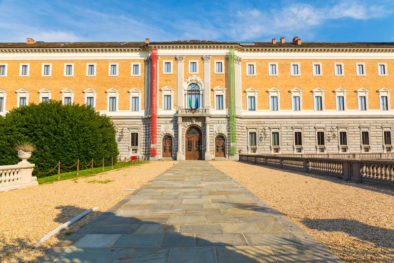 Πρόσοψη του sabauda galleria, archeological μουσείο στο Τορίνο αυτό στοκ φωτογραφίες με δικαίωμα ελεύθερης χρήσης