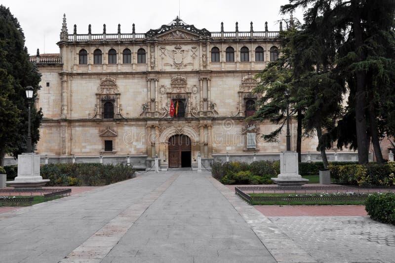 Πρόσοψη Alcala de Henares πανεπιστήμιο, Μαδρίτη, Ισπανία στοκ εικόνες