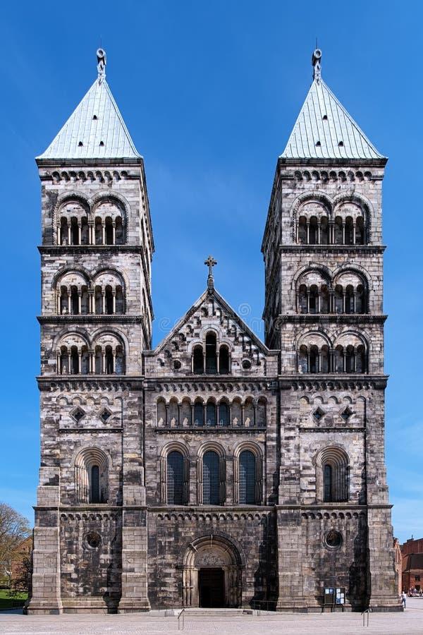 πρόσοψη Lund Σουηδία καθεδρικών ναών στοκ φωτογραφία με δικαίωμα ελεύθερης χρήσης