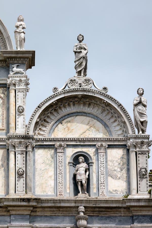 Πρόσοψη Scuola Grande Di SAN Marco στη Βενετία στοκ εικόνες