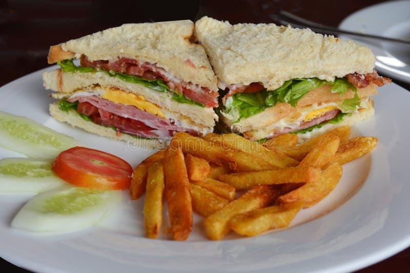 Πρόσφατα γίνοντας clubsandwiches στοκ εικόνες με δικαίωμα ελεύθερης χρήσης
