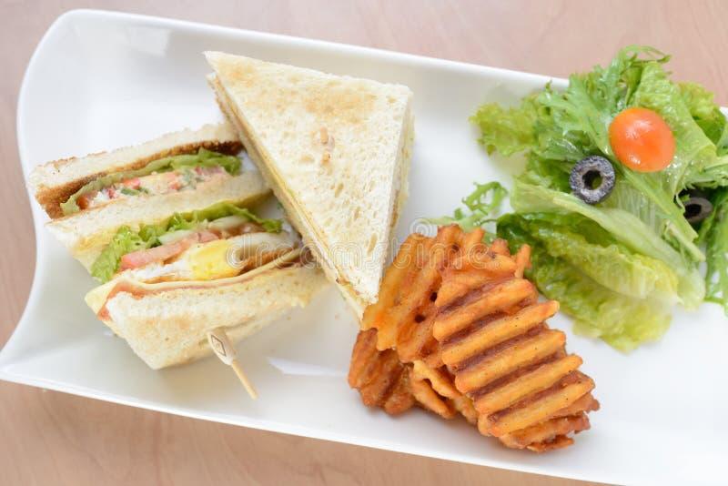 Πρόσφατα γίνοντα σάντουιτς λεσχών στοκ φωτογραφία με δικαίωμα ελεύθερης χρήσης