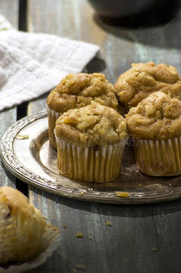Πρόσφατα ψημένα μίνι muffins των βακκίνιων στοκ εικόνες