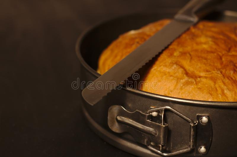 Πρόσφατα ψημένο σπιτικό φλοιώδες ψωμί στοκ φωτογραφίες