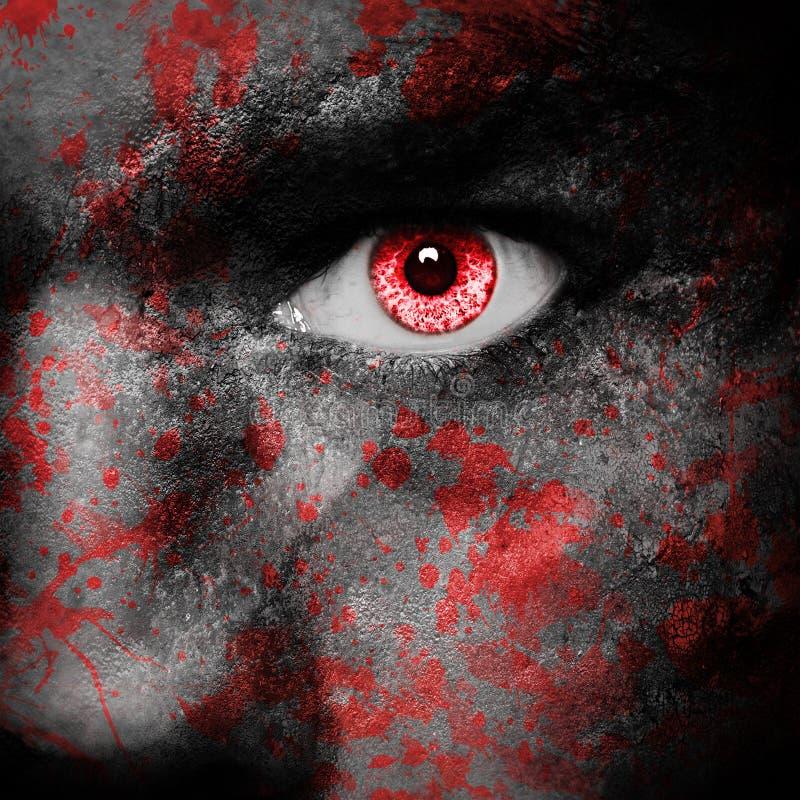 Πρόσωπο βαμπίρ στοκ εικόνα με δικαίωμα ελεύθερης χρήσης