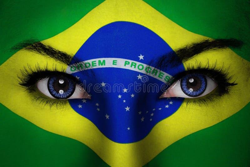 Πρόσωπο γυναικών της Βραζιλίας στοκ φωτογραφία με δικαίωμα ελεύθερης χρήσης