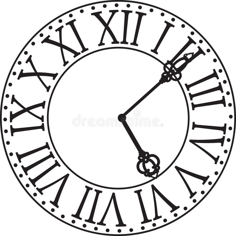 Πρόσωπο 'Ενδείξεων ώρασ' διανυσματική απεικόνιση