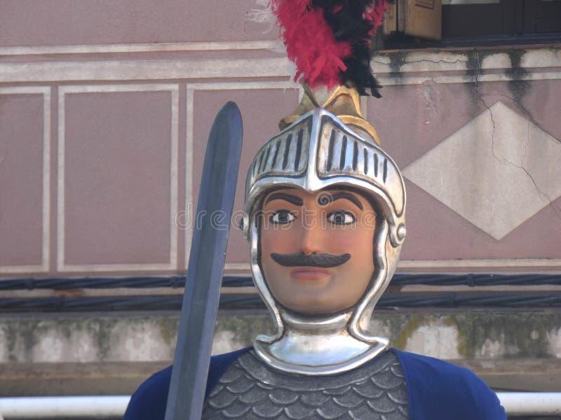 Πρόσωπο ενός γιγαντιαίου, χαρακτηριστικό των κομμάτων στοκ εικόνα με δικαίωμα ελεύθερης χρήσης