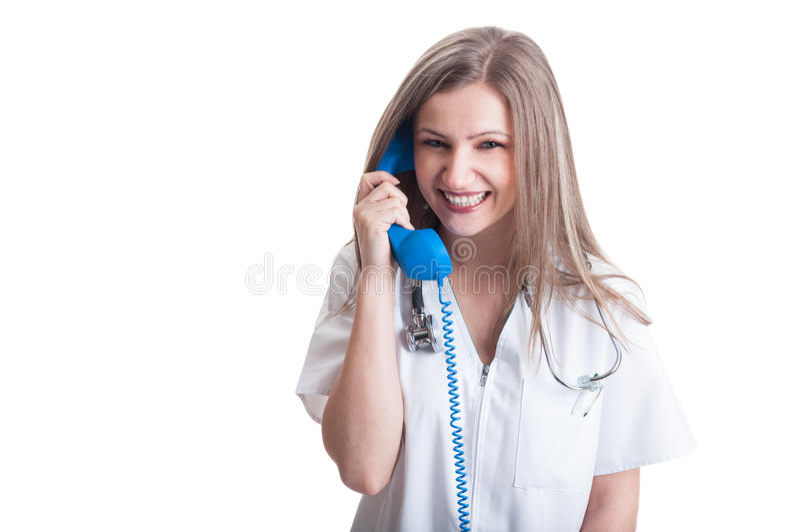 Πρόσωπο επαφών για το νοσοκομείο ή την ιατρική κλινική στοκ εικόνα με δικαίωμα ελεύθερης χρήσης