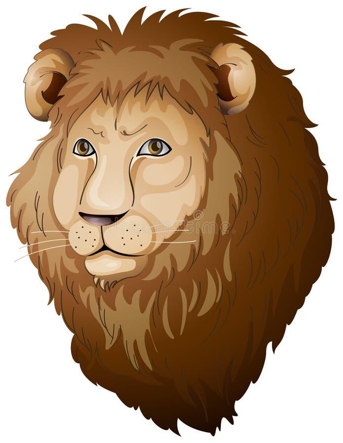 Πρόσωπο λιονταριών διανυσματική απεικόνιση
