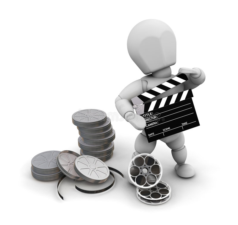 πρόσωπο κινηματογράφων διανυσματική απεικόνιση