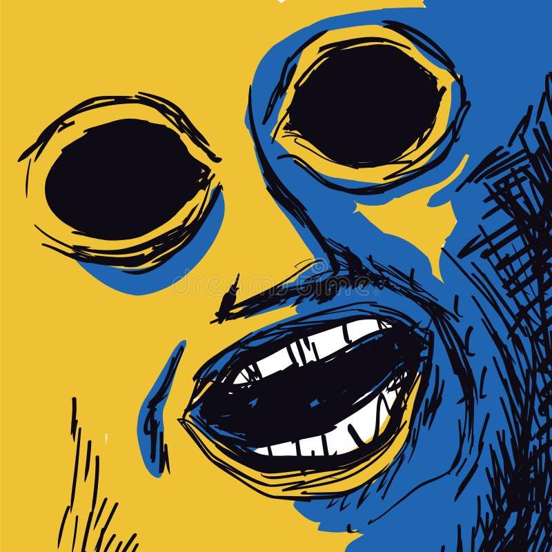 Πρόσωπο με τα τυφλά μάτια απεικόνιση αποθεμάτων